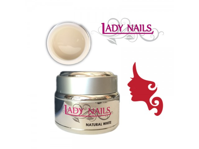 Gel NATURAL WHITE Bianco Naturale 30 ml Lady Nails