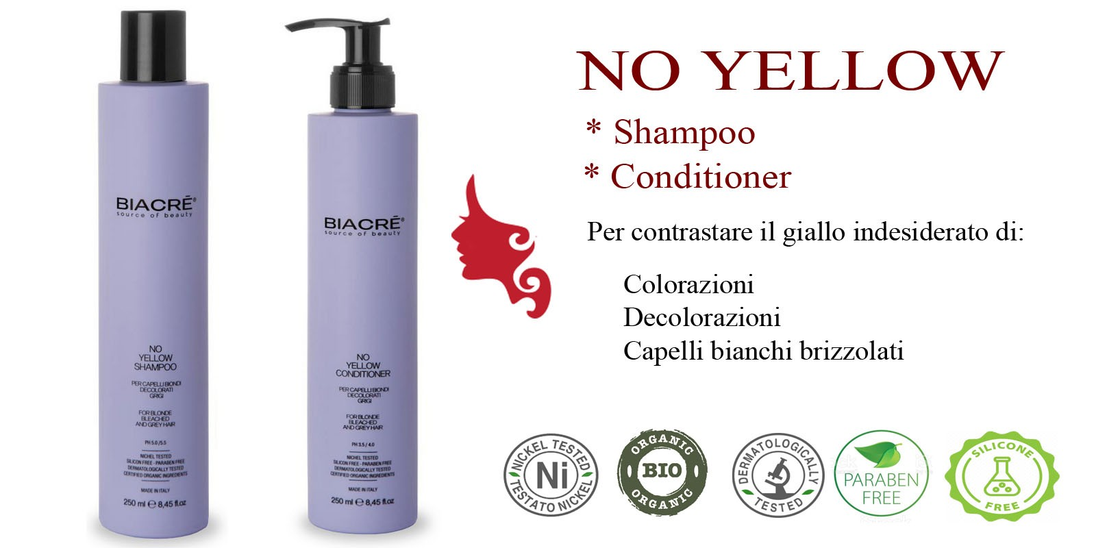 NO YELLOW Shampoo - Conditioner Nikel Tested